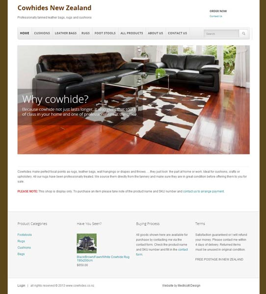 New Cow Hide Website