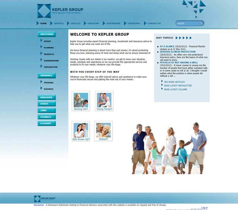 Kepler Group Website Transfer