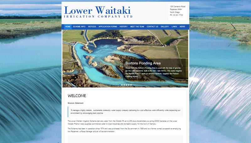 The Lower Waitaki Irrigation Company