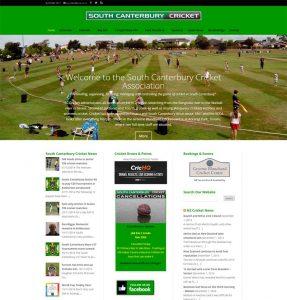 South Canterbury Cricket Website screenshot