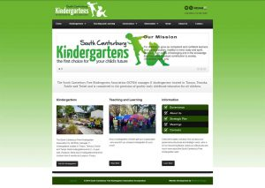South Canterbury Free Kindergarten website screenshot